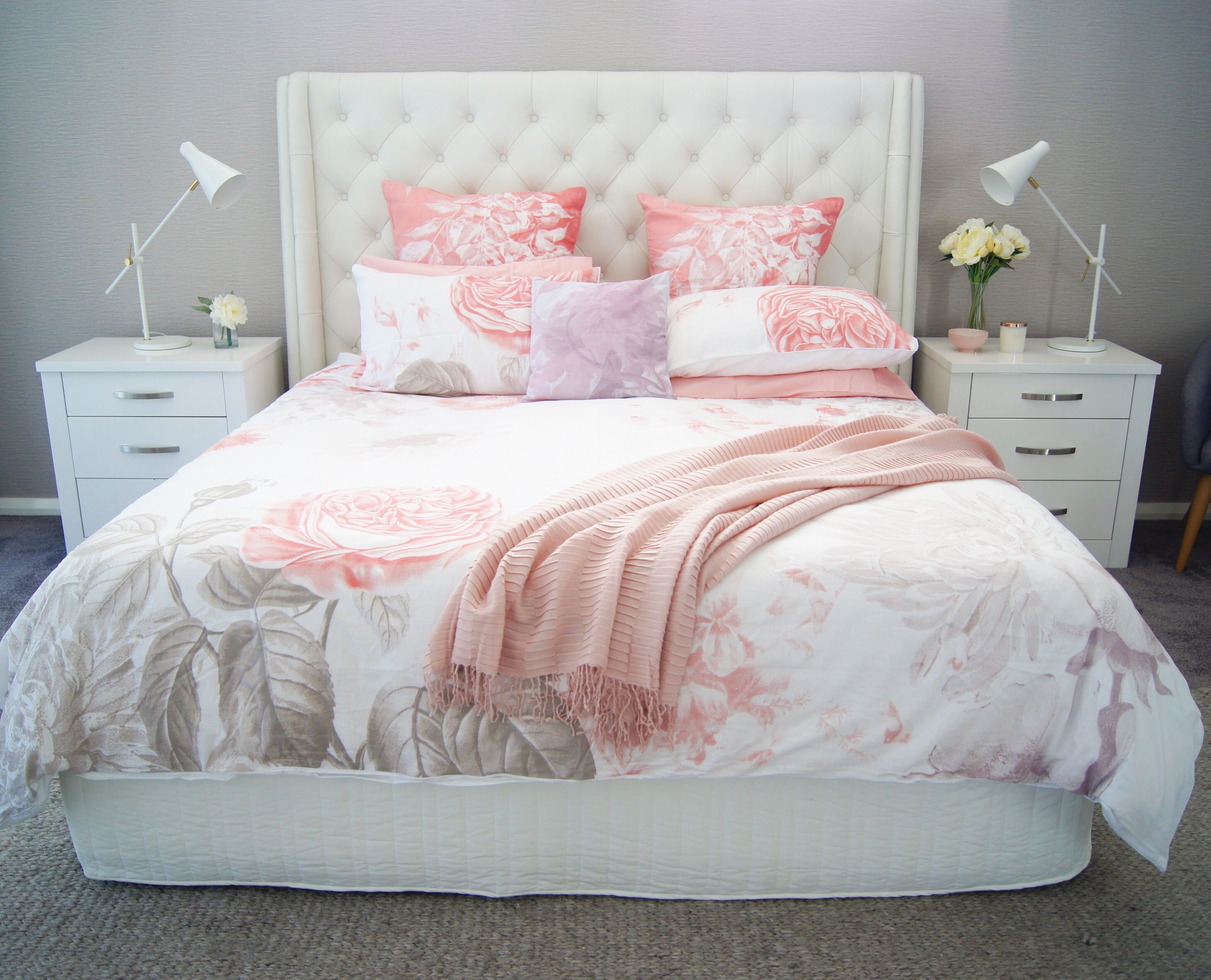 it changed the look of the room in an instant i am loving the soft and feminine feel it gives to my master bedroom my husband doesnu0027t have much input on
